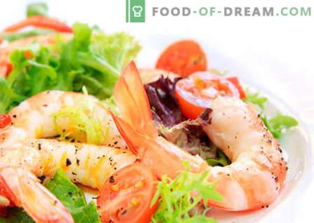 Salade met Chinese kool en garnalen zijn de beste recepten. Op de juiste manier een salade van garnalen en Chinese kool koken.