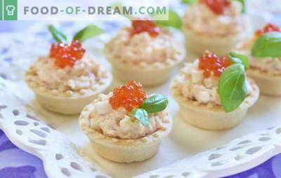 Kabeljauwlevertaartjes zijn een handige snack. Recepten voor tartlets met kabeljauwlever: met groenten, champignons, kaviaar