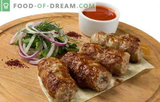 Lyulya-kebab is thuis anders! Hoe maak je een kebab thuis koken: recepten van moeilijk tot eenvoudig