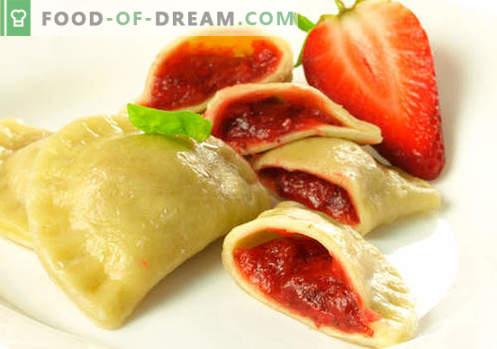 Dumplings met aardbeien - de beste recepten. Hoe om thuis goed en smakelijk knoedels met aardbeien te koken.