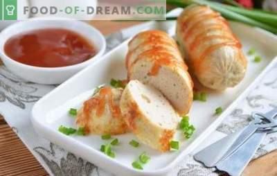 Kipgehaktjes zijn een handig alternatief voor worsten. Een selectie worstrecepten uit kipgehakt met kruiden