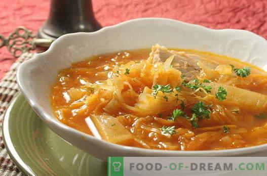 Koolsoep - de beste recepten. Hoe goed en lekker koolsoep koken.