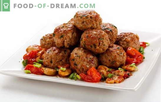 Vleespasteitjes voor lunch, diner of feestelijke tafel. Recepten voor heerlijke gehaktballen van rund- en kalfsvlees