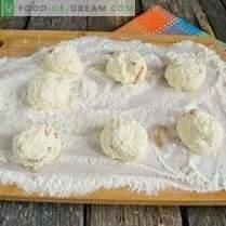 Găluște de brânză Manne cu caise uscate și ciocolată