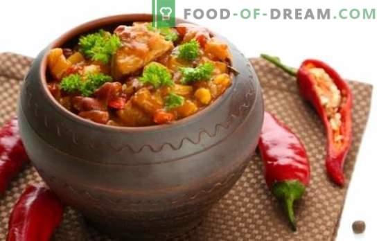 Chanahs in potten - we zullen Georgië bezoeken! Recepten gearomatiseerde schotel chanakhi in potten met kip, vlees, bonen, aubergine
