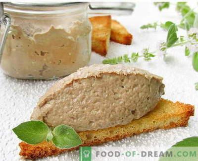 Vis paté - de beste recepten. Hoe goed en smakelijk koken vispastei.