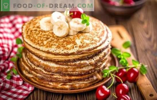 Echte klassieke pannenkoeken: stap voor stap recepten. Bewezen recepten van klassieke pannenkoeken met melk, gist en kefir