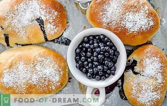 Pasteitjes met bosbessen - voor grote vreugde! Recepten voor zelfgemaakte bosbessentaarten: gebakken en gebakken