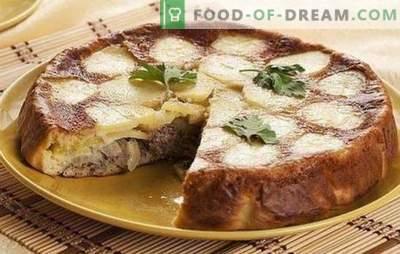 Taart met ingeblikte vis en aardappelen - een super diner! Recepten van geleien en andere pastei met ingeblikte vis en aardappelen