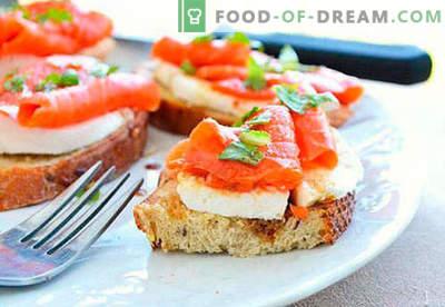 Feestelijke broodjes zijn de beste recepten. Hoe snel en lekker feestelijke sandwiches koken.