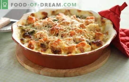 Bloemkool met vlees - het gemak van een gezonde maaltijd! Simpele recepten gestoofde, gebakken, gefrituurde bloemkool met vlees