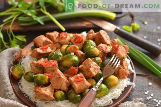 Varkensvlees met spruitjes in het Chinees