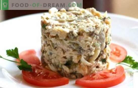 Kip en ham salade - de best bewezen recepten. Heerlijke salade met kip en ham: voeg paddestoelen, ananas of noten toe?