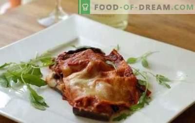 Aubergine met kaas en knoflook in de oven - elementair en elegant! Recepten voor verschillende aubergine gerechten met kaas en knoflook in de oven