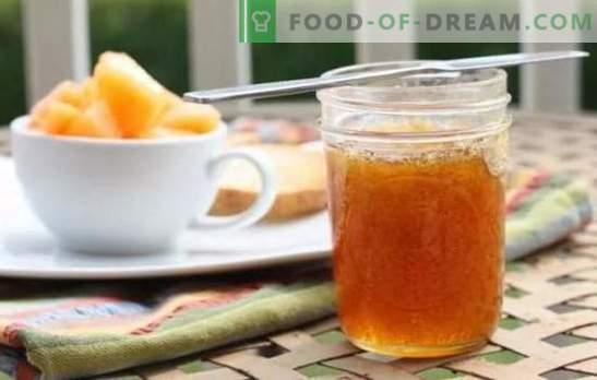 Meloenjam: eenvoudige recepten voor het originele dessert. Hoe heerlijke meloenjam te koken voor de winter, met appels, met citroen: recepten