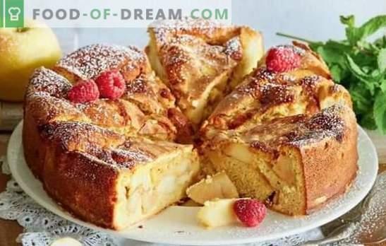 Snelle recepten van Charlotte op kefir, eieren en zure room. Charlotte snel en smakelijk - in de pan en in de oven