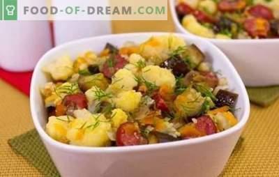 Gestoofde bloemkool - eenvoudig, smakelijk. Recepten voor gestoofde bloemkool met groenten, kip, gehakt, champignons en andere