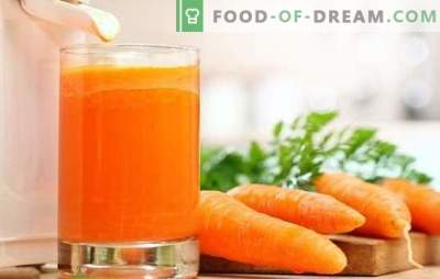 Suc de morcov la domiciliu: vitamine solide! Rețete de suc natural de morcovi și cocktail-uri cu participarea sa