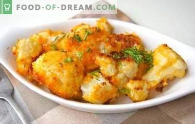 Het frituren van bloemkool (vers, diepgevroren) is heerlijk. Recepten voor gefrituurde bloemkool in paneermeel, beslag, in eieren, met groenten