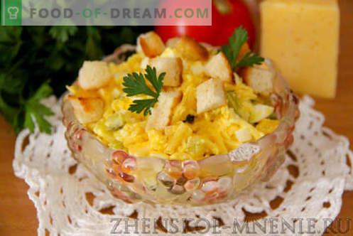 Salat mit Käse - ein Rezept mit Fotos und Schritt-für-Schritt-Beschreibung