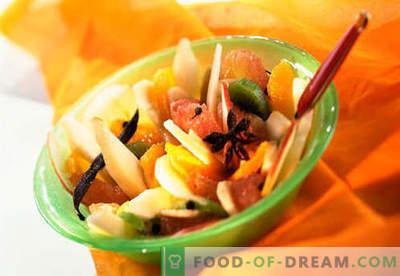 Слатки салати - докажани рецепти. Како да се готви слатки салати.