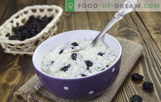 Rijst met rozijnen is niet alleen kutya! Recepten voor heerlijke rijstgerechten met rozijnen: karbonades, ontbijtgranen, ovenschotels, pilaf en desserts