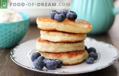 Zelfgemaakte pannenkoeken: snelle ontbijtrecepten. Smakelijke pannekoeken volgens snelle recepten op kefir, melk, courgette, lever