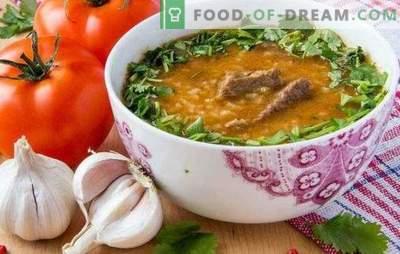Kharcho in het Georgisch is een traditionele soep van de Georgische keuken. Hoe kharcho in het Georgisch te bereiden met rund, lam