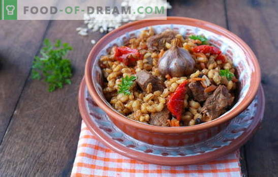 Gerstepap met vlees is een smakelijk en gezond gerecht van de Russische keuken. De beste recepten voor het maken van gerstpap met vlees