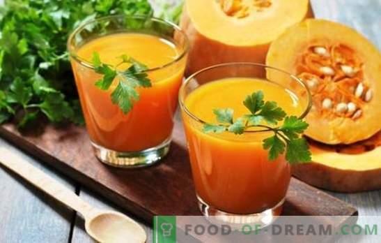Pompoensap met sinaasappels voor de winter - een vitaminelading! Recepten van pompoensap met sinaasappels voor een zonnige stemming