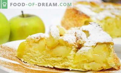Charlotte met appels in de oven - 6 beste recepten. Hoe goed en lekker een klassieke en ongewone Charlotte koken met appels in de oven.