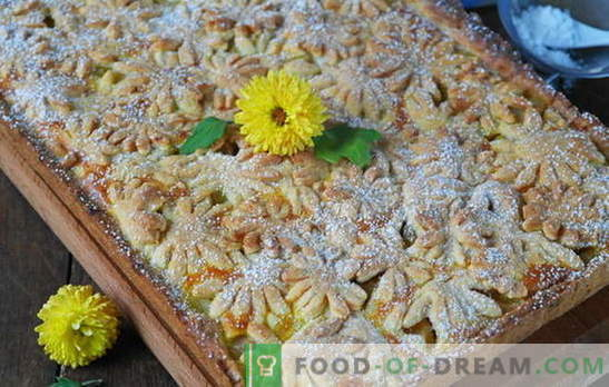 Een win-win-dessert is een zilte appeltaart. Varianten van deeg en vullingen voor zandtaart met appels