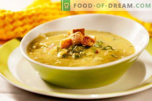 Erwtensoep met kip - de beste recepten. Hoe goed en smakelijk koken erwtensoep met kip.