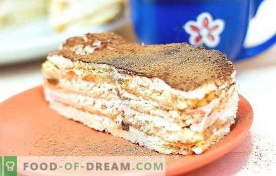 Cake van crackers en zure room is een teder dessert voor alle gelegenheden. De beste cake recepten van crackers en zure room met verschillende toevoegingen