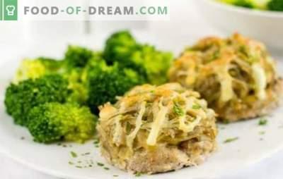 Stapels gehakt vlees in de oven onder een bontjas: een stap voor stap recept. Alternatief voor gehaktballen: steaks van gehakt vlees in de oven onder een kaasvacht
