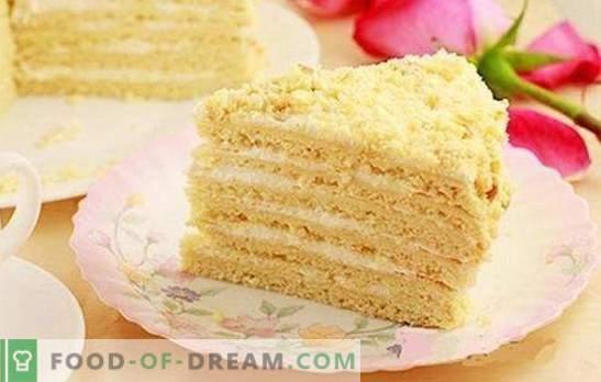 Klassieke zure roomcake - een teder dessert voor alle gelegenheden. Klassieke zure roomcake met gelatine, kers, cacao, kaneel