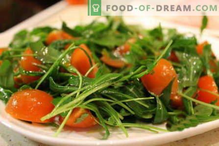 Rucolasalade - de beste recepten. Hoe goed en lekker een salade met rucola te koken.