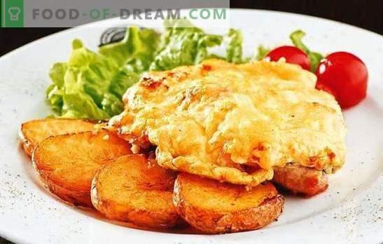 Karbonades met tomaten en kaas - sappig! Hoe varkenskoteletten koken met tomaat en kaas