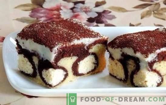 Cake met ballen kaas - een echt meesterwerk! Cake met kwark ballen in de oven en de slowcooker