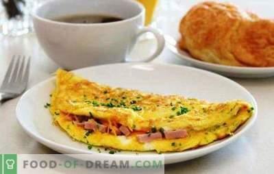 Roerei met worst in een pan - een eenvoudig ontbijt. Recepten voor een omelet in een koekenpan met worst en kaas, tomaten, spek, groenten