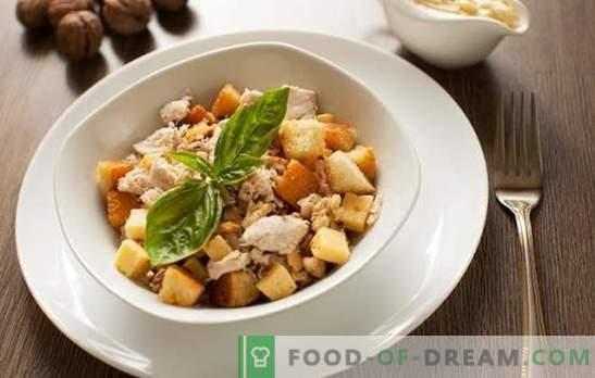 Salade met ham en crackers - kook in de
