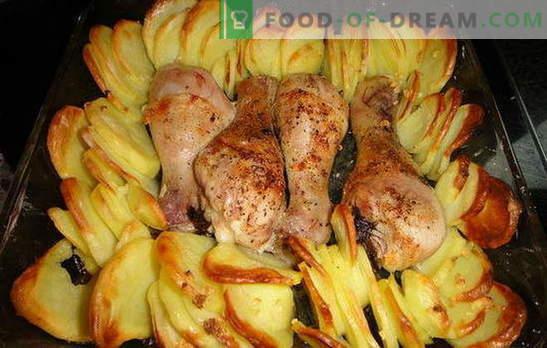 Kippenpoten met aardappelen in de oven - een heerlijk diner! Recepten voor kippenpoten met aardappelen in de oven: 7 varianten van één gerecht