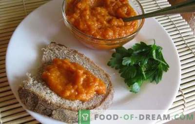 Zucchini-kaviaar voor de winter door een vleesmolen - een zachte snack