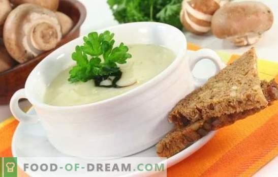 Champignonsoep met gesmolten kaas is een onverdiende schotel! Recepten beste champignonsoepen met gesmolten kaas