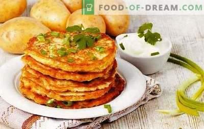 Wit-Russische pannenkoeken - dit is een aardappel! Recepten van verschillende Wit-Russische pannenkoeken: klassiek, met gehakt, champignons, knoflook