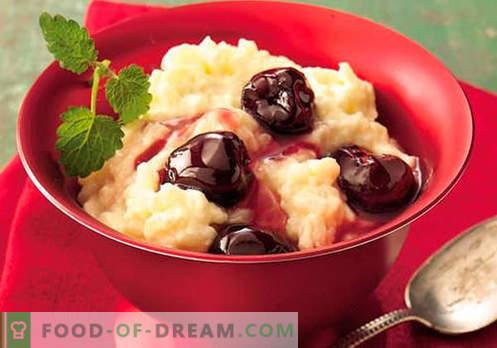 Rijstpudding - de beste recepten. Hoe goed en smakelijk rijstpudding koken.