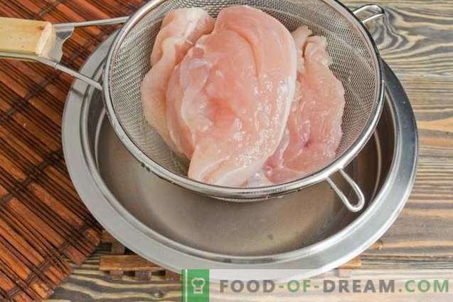 Gedroogde kippenborst thuis