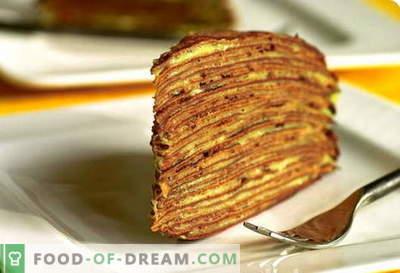 Pannenkoeken taart - de beste recepten. Hoe goed en smakelijk pannenkoekentaart bereiden.