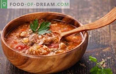 Georgische soep is een heerlijk pittige, pittige voorgerecht. De beste recepten van Georgische soepen: kharcho, shechamandy, hashi, bozartmu