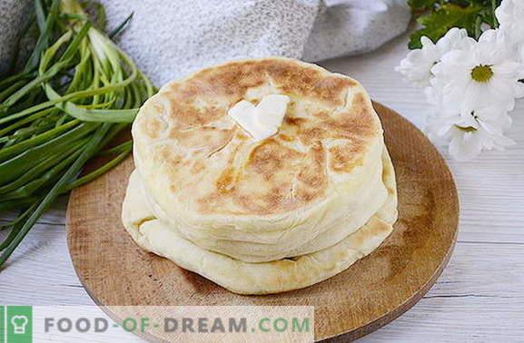De eenvoudigste khachapuri op kefir met wrongel in een pan. Auteur's foto-recept van Khachapuri koken in een pan met gestremde melk